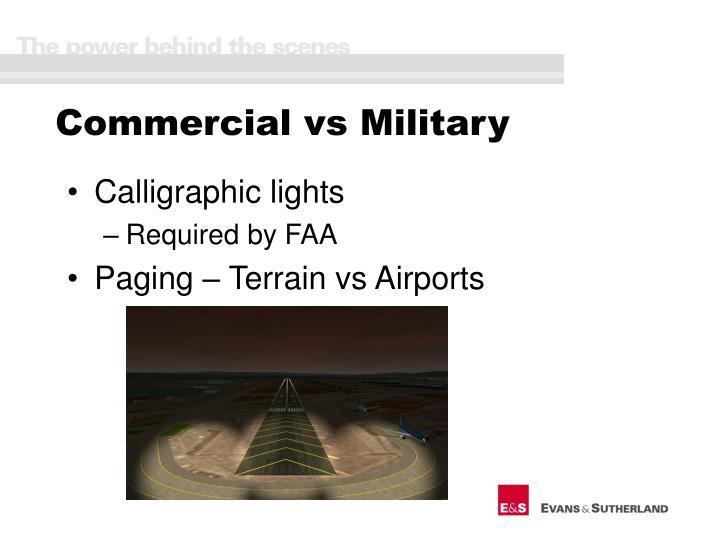 Commercial vs Military
