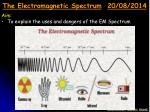 the electromagnetic spectrum 20 08 2014