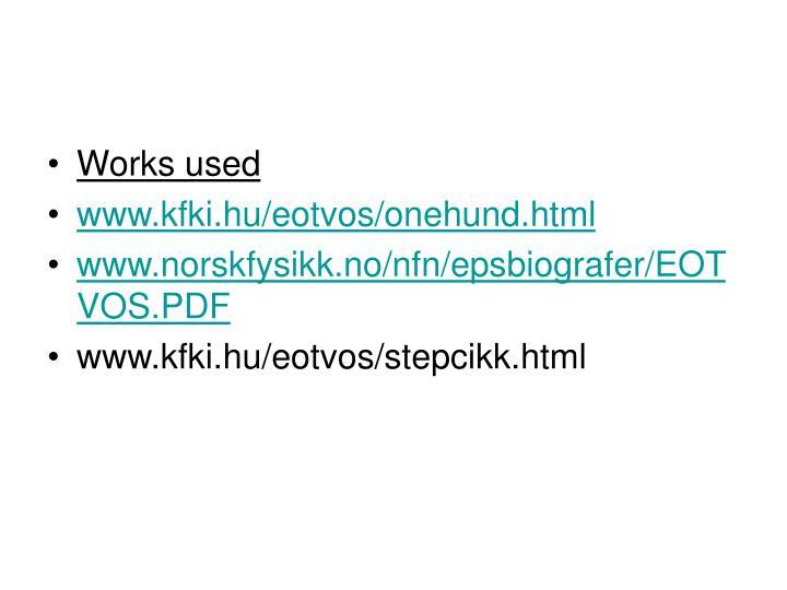 Works used