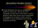 roadway work zones