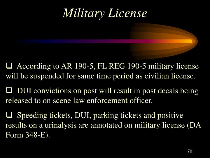 Military License