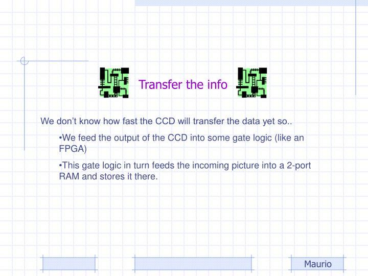 Transfer the info