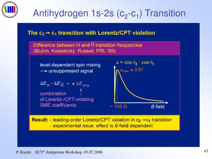 Antihydrogen 1s-2s (c