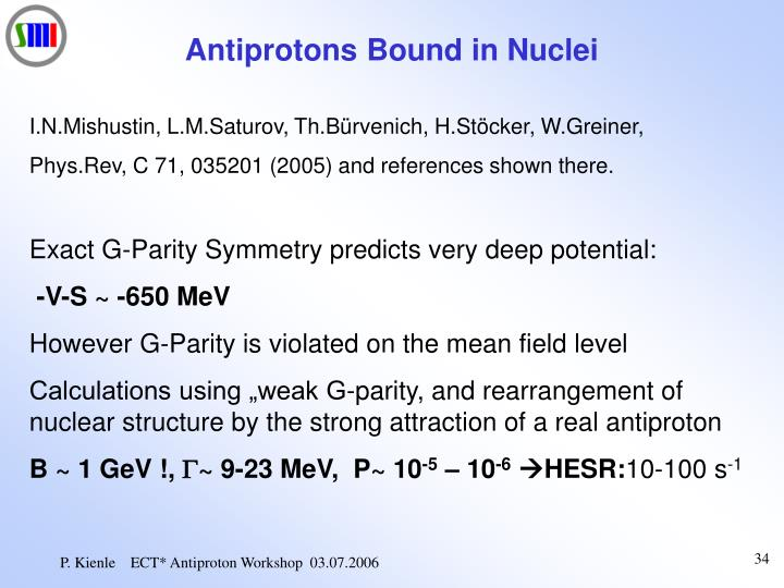 Antiprotons Bound in Nuclei