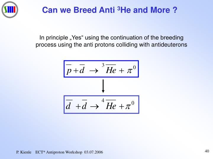 Can we Breed Anti