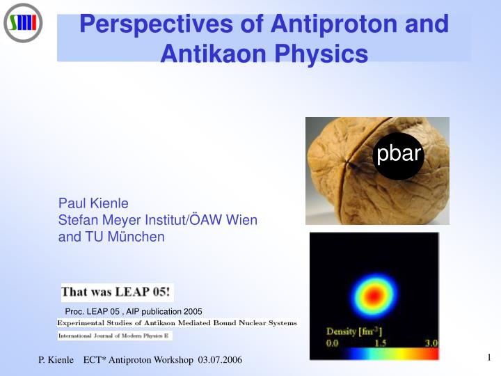 perspectives of antiproton and antikaon physics