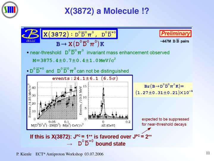 X(3872) a Molecule !?