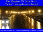 east hampton ny main street before post top fixtures changed