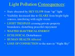 light pollution consequences
