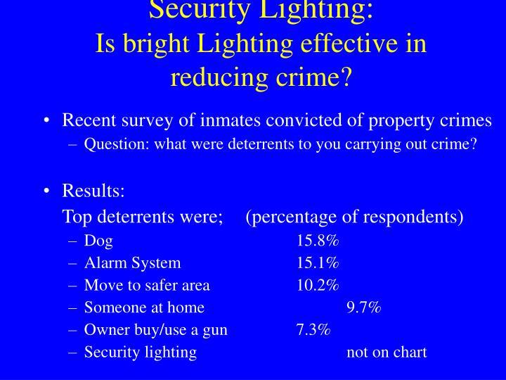 Security Lighting: