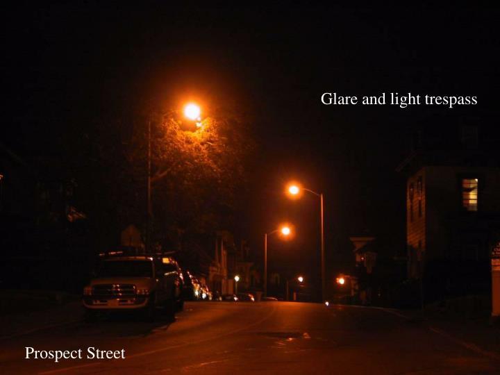 Glare and light trespass