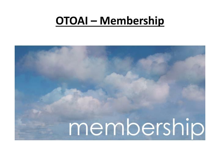 OTOAI – Membership