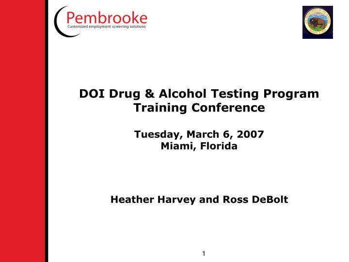 DOI Drug & Alcohol Testing Program