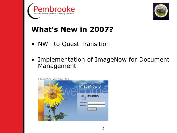 What's New in 2007?