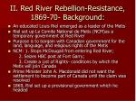 ii red river rebellion resistance 1869 70 background