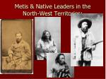 metis native leaders in the north west territories