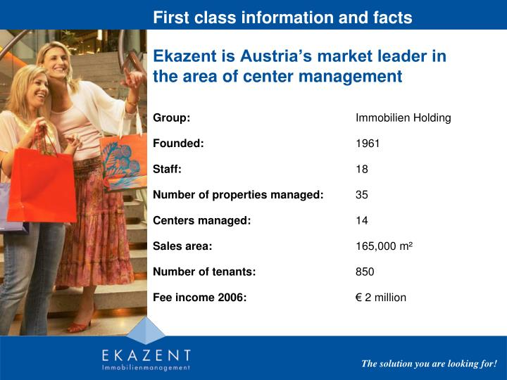 First class information and facts