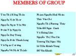 members of group