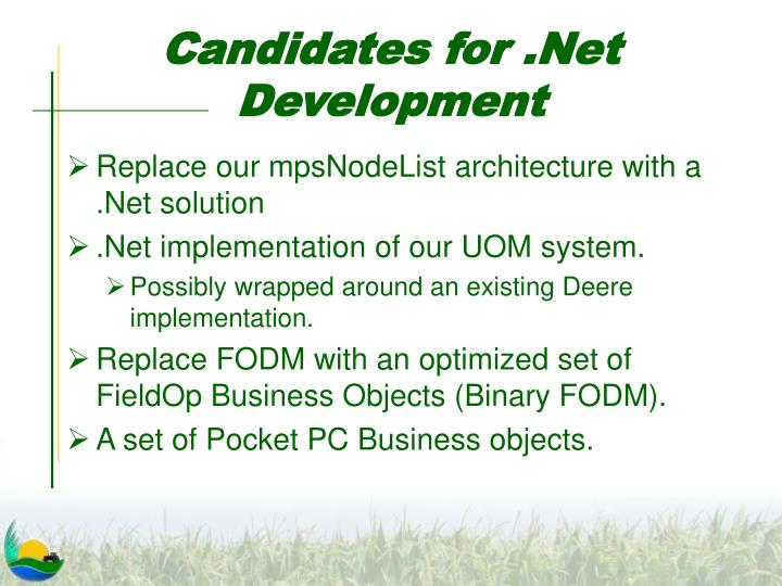 Candidates for .Net Development