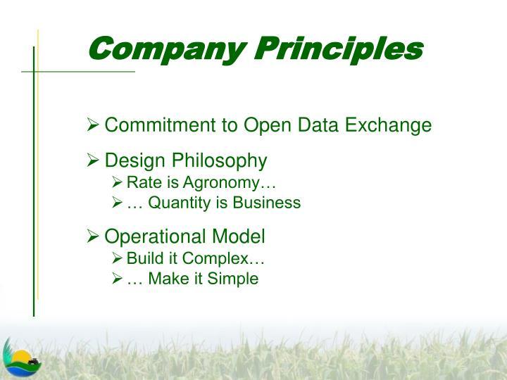 Company Principles