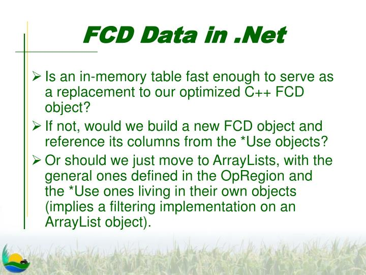 FCD Data in .Net