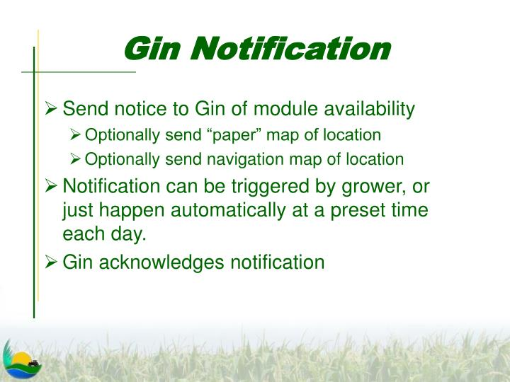 Gin Notification
