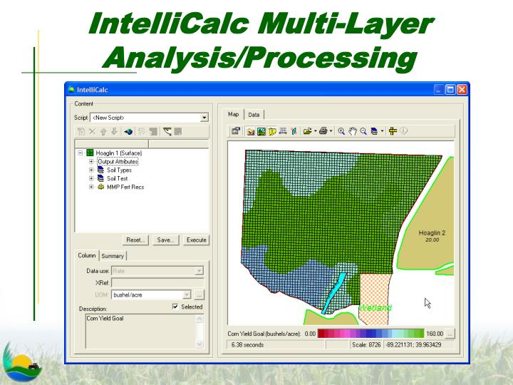 IntelliCalc Multi-Layer Analysis/Processing