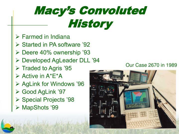 Macy's Convoluted History