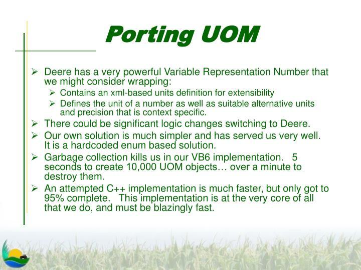 Porting UOM