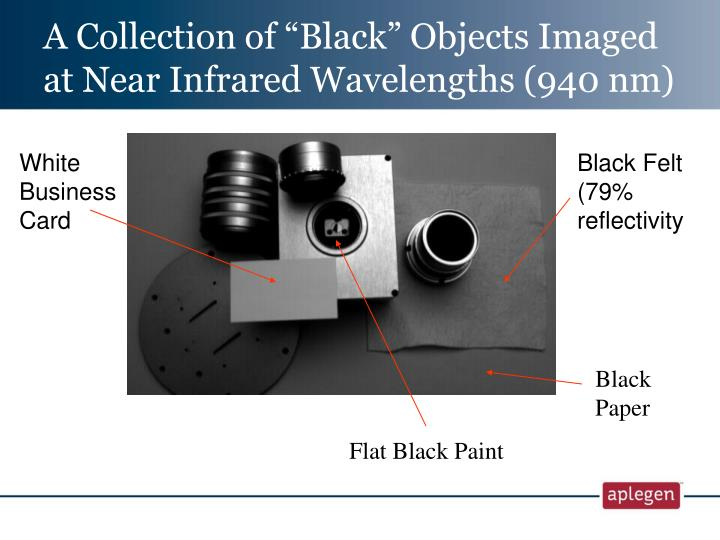 "A Collection of ""Black"" Objects Imaged at Near Infrared Wavelengths (940 nm)"