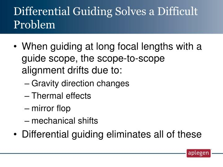 Differential Guiding Solves a Difficult Problem