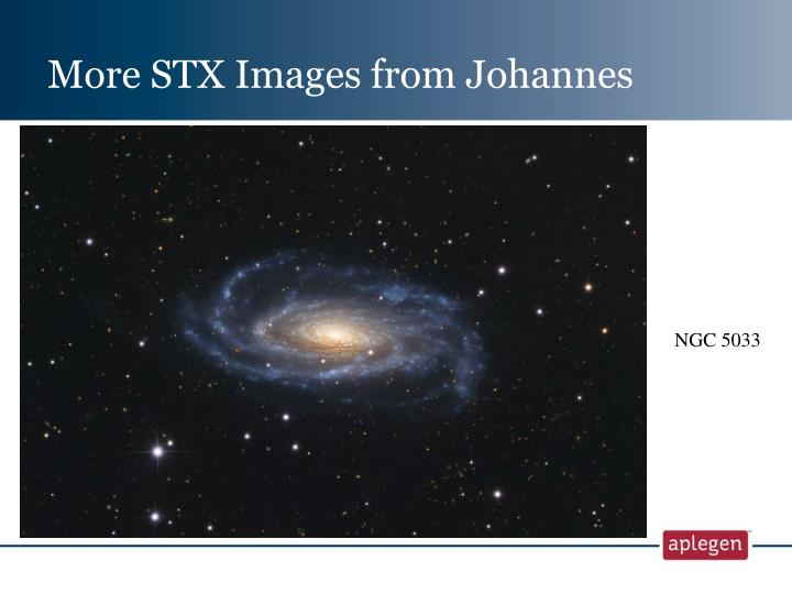 More STX Images from Johannes