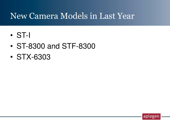 New Camera Models in Last Year