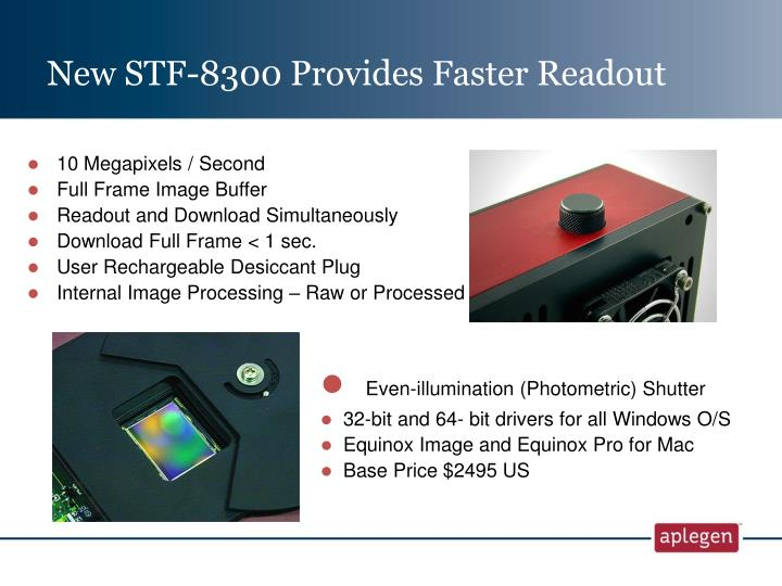New STF-8300 Provides Faster Readout