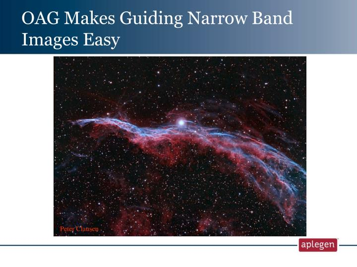 OAG Makes Guiding Narrow Band Images Easy