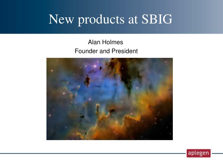 New products at SBIG