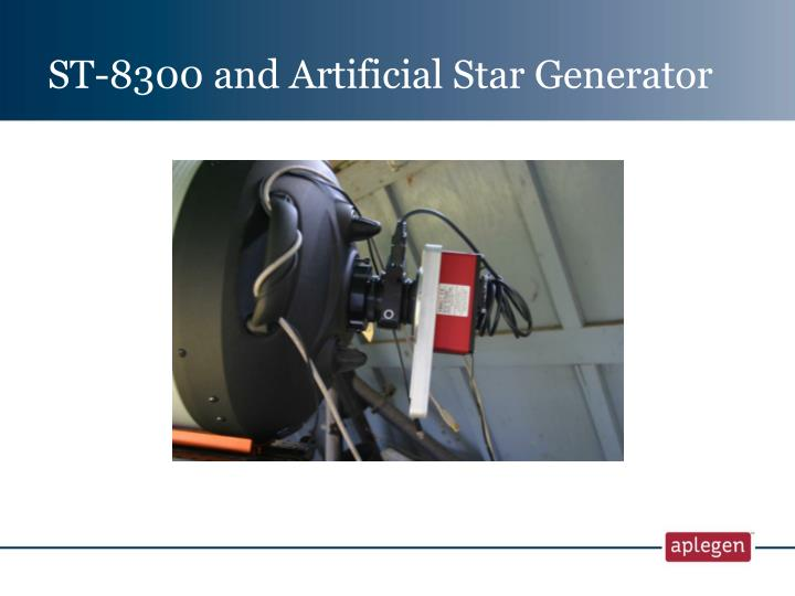 ST-8300 and Artificial Star Generator
