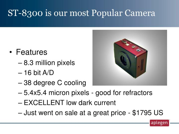 ST-8300 is our most Popular Camera