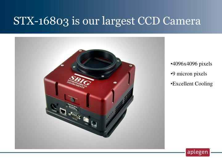 STX-16803 is our largest CCD Camera