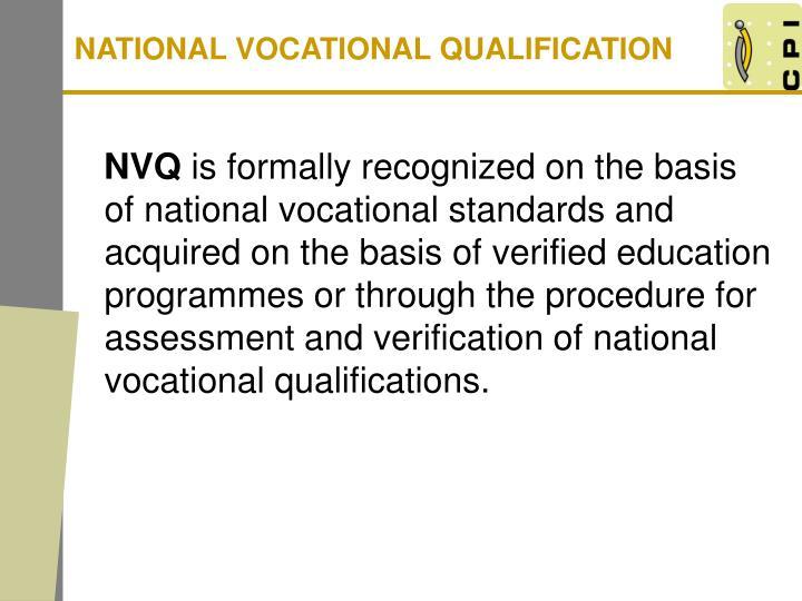 NATIONAL VOCATIONAL