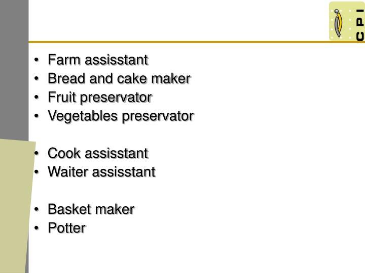 Farm assisstant