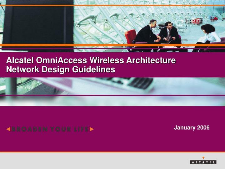 Alcatel OmniAccess Wireless Architecture