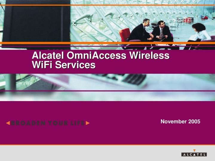 Alcatel OmniAccess Wireless WiFi Services