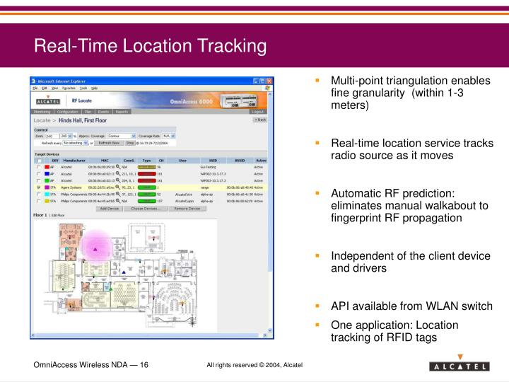 Real-Time Location Tracking