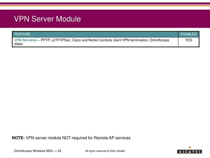 VPN Server Module