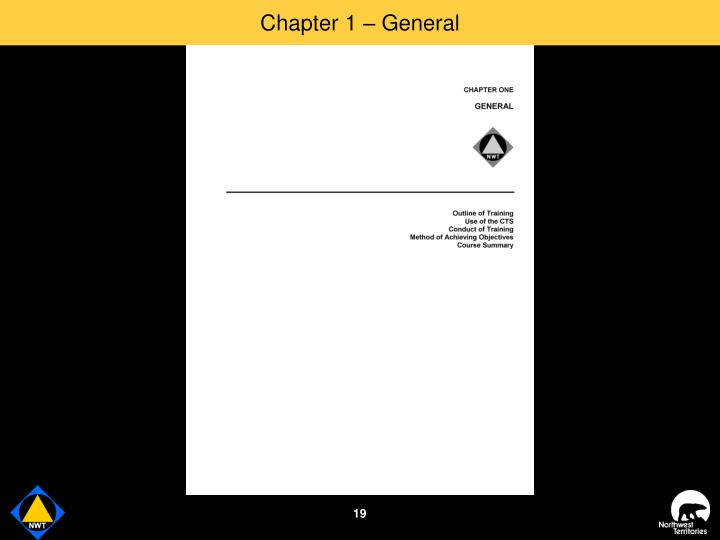 Chapter 1 – General