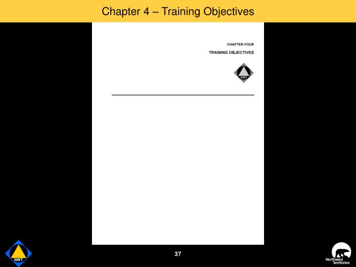 Chapter 4 – Training Objectives