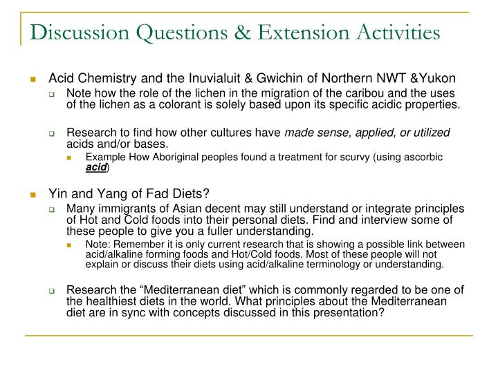 Discussion Questions & Extension Activities