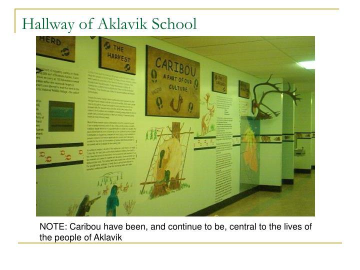 Hallway of Aklavik School