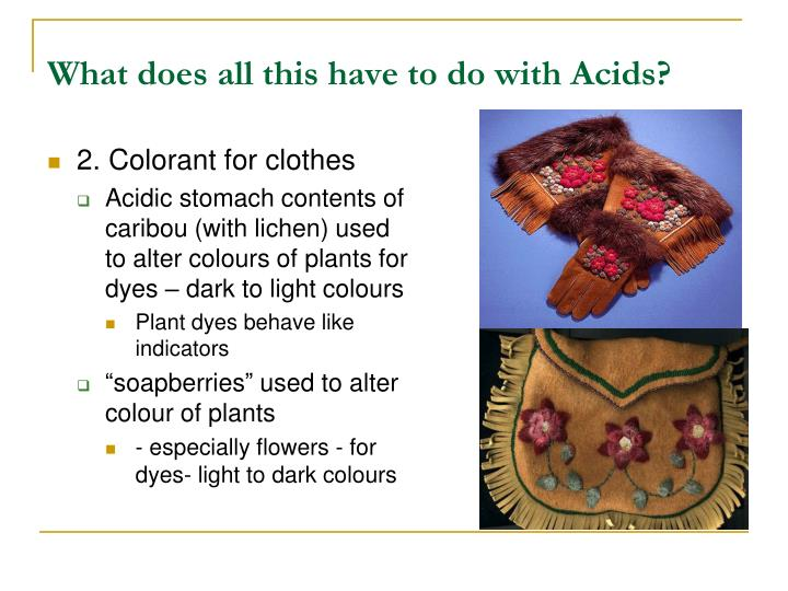 What does all this have to do with Acids?
